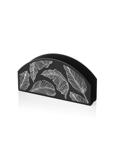 The Mia Peçetelik Siyah 16 x 8 Cm -  Banana Palm Siyah